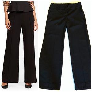 Chloé | 100% Wool Black Wide Leg Trouser Pants 38